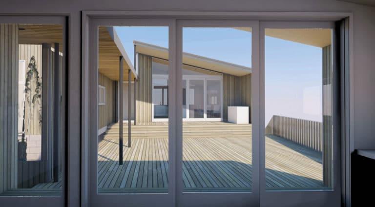 Peka Peka Coastal Home View to Courtyard