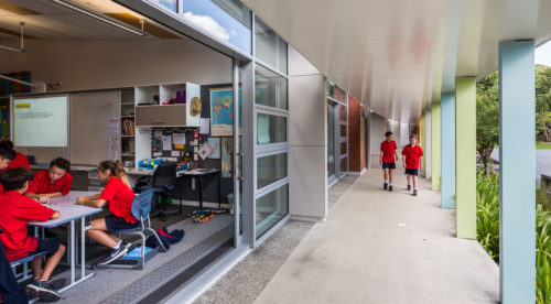 Fergusson Intermediate School Covered Corridor