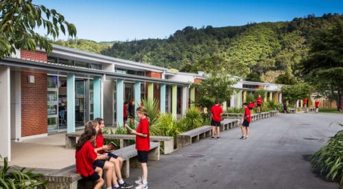 Fergusson Intermediate School Students Outdoor Seating