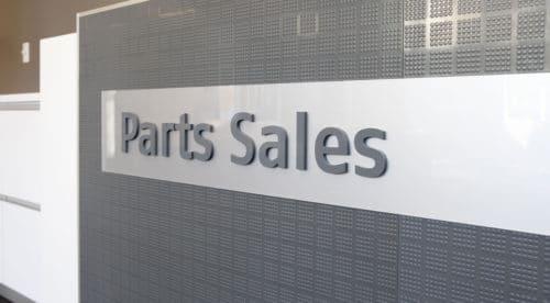 Mitsubishi Motors Parts Sales Reception