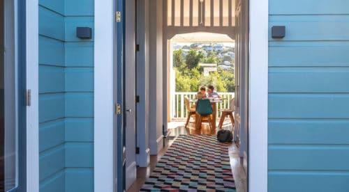 Aro Valley Villa Hallway Views