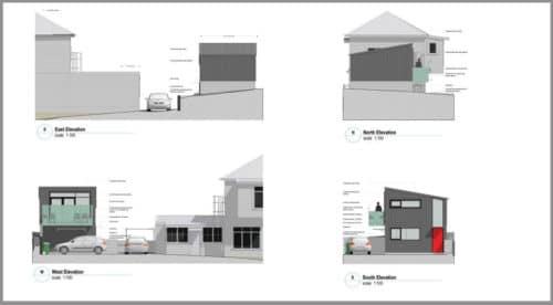 Caroline St Small House Elevations