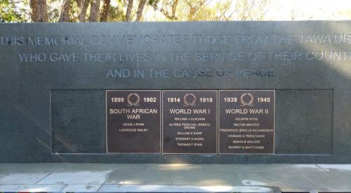 Tawa Memorial Plaques